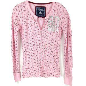PINK by Victorias Secret Henley Top Tee
